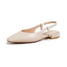 1 inch Low Heels Comfort Classic Pumps Patent Slingback