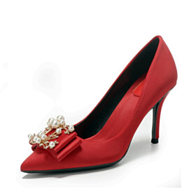 Pumps Wedding Shoes Pointed Toe 3 inch High Heel Dress Shoes