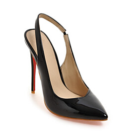 Pointed Toe Office Shoes Pumps 11 cm High Heel Business Casual Slingbacks