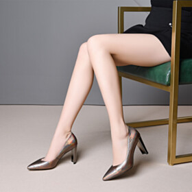 Business Casual Shoes Gradient Pumps Leather Modern 8 cm High Heels Elegant Pointed Toe