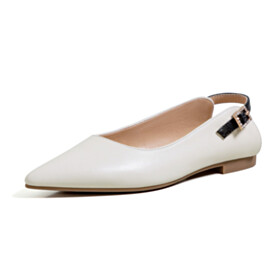 Flat Shoes White Business Casual