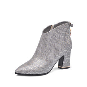7 cm Mid Heels Pointed Toe Fashion Booties Comfort