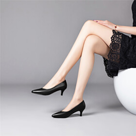 Comfort Stiletto Low Heels Closed Toe Pumps Classic