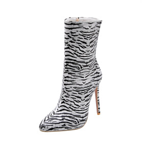 Closed Toe Booties Fur Lined High Heels Classic 2020