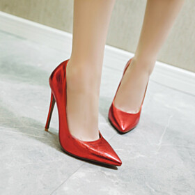 12 cm High Heels Stiletto Closed Toe Pumps Pointed Toe Classic Womens Shoes