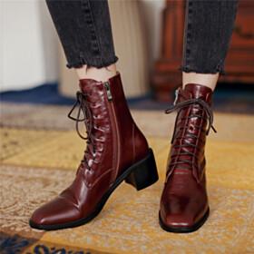 Booties 2020 Comfort Chunky Dress Shoes 5 cm Low Heel