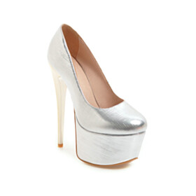 Slip On High Heel Round Toe Closed Toe Classic Platform Pumps Going Out Shoes