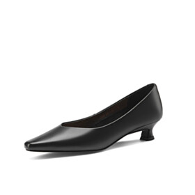 Business Casual Shoes Classic Slip On Pointed Toe Womens Footwear Closed Toe Beautiful 3 cm Low Heel Kitten Heel