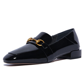 Closed Toe Slip On Classic Business Casual Shoes Black Flat Shoes