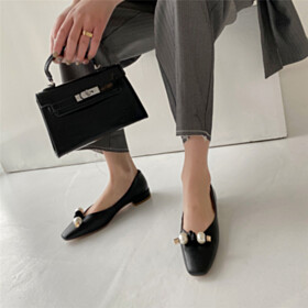 Flat Shoes Business Casual Shoes Leather Black Comfort