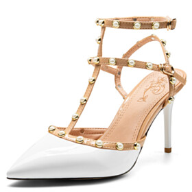 Business Casual Designer 9 cm High Heeled Sexy Classic Gladiator Sandals Pointed Toe Strappy