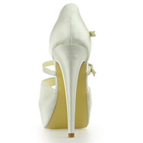 Ankle Strap Peep Toe Beautiful 5 inch High Heel Stiletto Dress Shoes Wedding Shoes