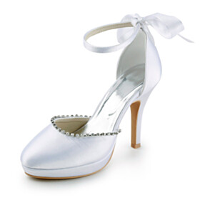 Wedding Shoes For Women Spring Evening Party Shoes Stilettos Formal Dress Shoes High Heel Elegant With Ankle Strap
