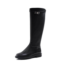 Classic Women Shoes Fur Lined Riding Boots Boots Flat Shoes
