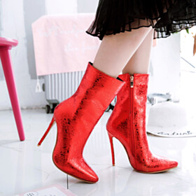 Pointed Toe Fashion 12 cm High Heel Stiletto Ankle Boots