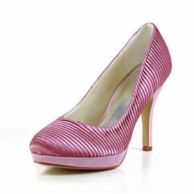 Dress Shoes Pink Stiletto High Heels Pumps Bridal Shoes