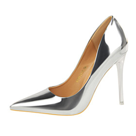 Pumps Going Out Shoes Stilettos Sexy Pointed Toe Shoes 4 inch High Heeled Classic