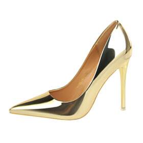 Shoes Party Shoes Stiletto Sexy Metallic Classic Pumps 10 cm High Heels