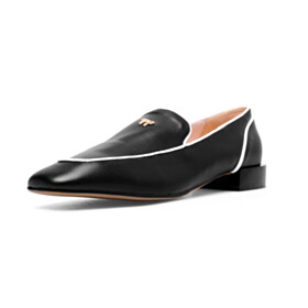 Loafers Flat Shoes Womens Footwear Closed Toe Bow