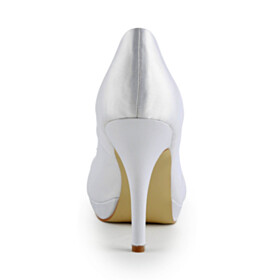 Stiletto 4 inch High Heeled Dress Shoes Pumps Slip On Wedding Shoes