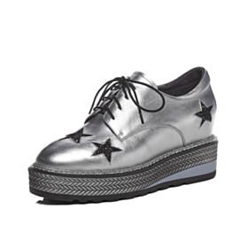 7 cm Heel Fashion Closed Toe Elevator Sneakers Platform Heel