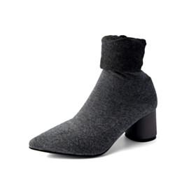 Over Knee Boots Tall Boots 6 cm Mid Heels Gray Comfort