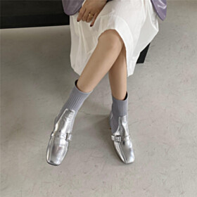 Sparkly Comfort Metallic Fur Lined Chelsea Booties Chunky Low Heels Sock Sweater