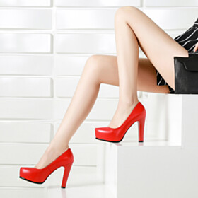 11 cm High Heel Pumps Womens Footwear Going Out Shoes Red Bottoms Platform Heel