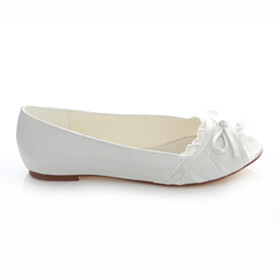 Bridal Shoes Flats Ivory Vintage