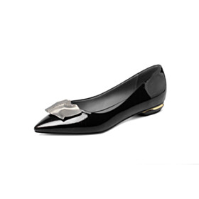 Pointed Toe Flat Shoes Womens Shoes Black Comfort