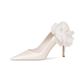 White Wedding Shoes For Women High Heel Stiletto Pumps Elegant Evening Party Shoes