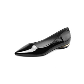 Womens Footwear Comfortable Closed Toe Black Flat Shoes Ballet Shoes