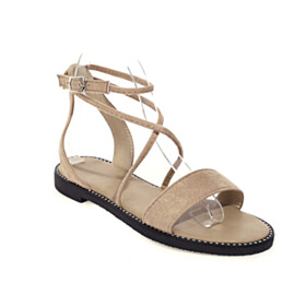 Beach Footear Ankle Strap Bohemian Ankle Wrap Comfort 2021 Peep Toe Womens Sandals Strappy Gladiator Flat Shoes