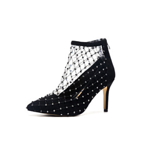 9 cm High Heel Shoes Fashion Leather Pointed Toe Pumps