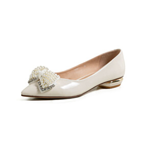 Beautiful Comfortable Womens Shoes Flat Shoes With Bowknot Loafers Business Casual White
