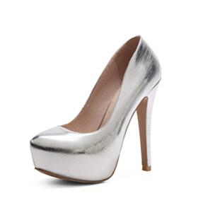 Pumps Platform Shoes Spring 5 inch High Heel Business Casual Fashion Slip On