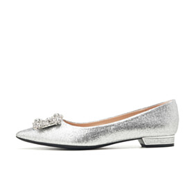 Wedding Shoes Sparkly Rhinestones With Crystal Ballet Shoes Flats