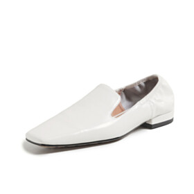 Loafers White Shoes Comfort Flats