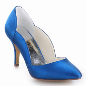 3 inch High Heeled Womens Footwear Pumps Stilettos Beautiful Royal Blue