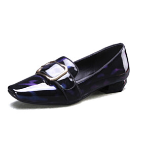 Women Shoes Dark Blue Womens Shoes Fashion Slip On Flat Shoes Closed Toe Ombre