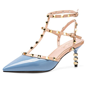 Sandals For Women Closed Toe Designer Sexy Strappy With Ankle Strap Mid Heel 2021 Classic Studded Leather Modern Going Out Shoes Gladiator