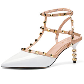 Studded Modern Gladiator Leather Sexy Designer Mid High Heeled Party Shoes Sandals Classic
