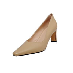 Pointed Toe Pumps 6 cm Mid Heels Closed Toe Dress Shoes Leather Elegant Business Casual Shoes