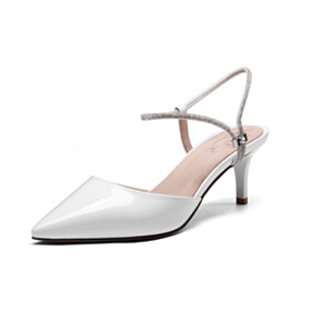 Elegant Party Shoes Business Casual Shoes Sandals Classic Mid High Heeled Ankle Strap Stilettos Pointed Toe
