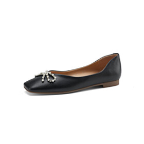 Beautiful Ballerinas Bowknot Comfort Leather Shoes Loafers Fringe Flat Shoes Business Casual