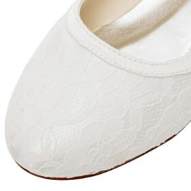 Bridals Wedding Shoes Satin Flats Flower