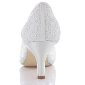 Elegant Wedding Shoes Pearl Mid Heel Open Toe Womens Sandals Satin Flower 2021 With Metal Jewelry Dress Shoes Lace