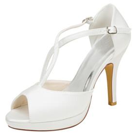 Peep Toe 10 cm High Heel Dress Shoes Stiletto Sandals For Women