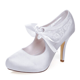 Party Shoes White Pumps Embroidered Shoes Wedding Shoes With Ankle Strap High Heels