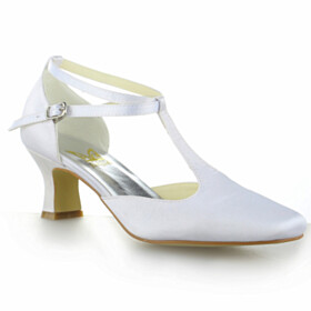 Bridals Wedding Shoes 6 cm Heel D orsay Dress Shoes Stiletto Shoes White